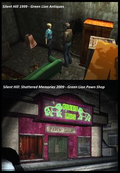Silent Hill - Green Lion - Parallel Between Silent Hill 1999 and Silent Hill Shattered Memories 2009