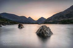 Sunrise over Lochan Urr by smartgav 4reigndestinations.tumblr.com #Travel #Mountains