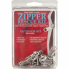 Shop for Zipper Rescue Kit for Repairing Outdoor Apparel and Equipment. Get free delivery On EVERYTHING* Overstock - Your Online Sewing & Needlework Shop! Sewing Class, Sewing Kit, Hand Sewing, Outdoor Apparel, Outdoor Gear, Zipper Repair, Needlework Shops, Stuff To Do, Helpful Hints