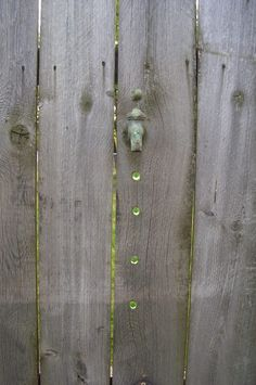 Fence art. Love this with the marble water drops! FUN!!