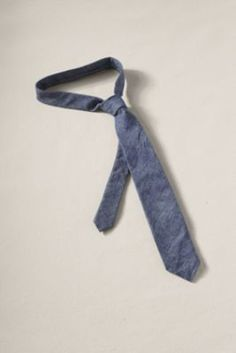 I have chambray pants, chambray shirts, chambray shoes, and a chambray blazer, but I don't have a chambray tie (yet).  Solid ties with a bit of texture like this one are great with boldly patterned shirts.  Men's Chambray Tie from Lands' End Canvas #landsendcanvas