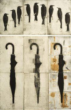 "Queensland artist Glen Skien - Work from Glen's exhibition ""Room, Letter, Window, Map"". http://www.silentparrotpress.com/"