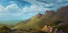 Great Britain, Europe, Mountains, Digital, Nature, Artwork, Travel, Painting, Naturaleza