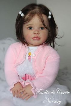 Reborn toddler doll kit Sally by Regina Swialkowski , micro-rooting human hair