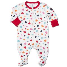 10 Things to Do with The Baby On #ValentinesDay {#1 is dress the part!} We love this heart  baby sleeper from Polarn O. Pyret