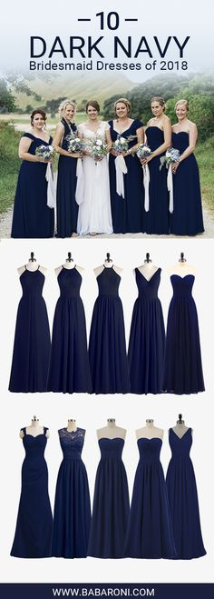 Bridesmaid Dresses Under 100 - Bridesmaid Dresses Under 100 Take a look at our amazing dark navy bridesmaid dresses in fabrics such as chiffon and satin, you will be suprised at our quality and styles. Let you shine at the party. Dark Blue Bridesmaid Dresses, Bridesmade Dresses, Navy Bridesmaid Dresses, Wedding Bridesmaids, Dresses Dresses, Dark Blue Dresses, Navy Blue Bridesmaids, Princess Wedding Dresses, Wedding Gowns