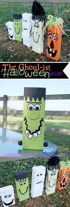 http://creativemeinspiredyou.com/the-ghoul-ist-halloween-decor/ Love these fun and silly Halloween decor blocks, they are adorable!