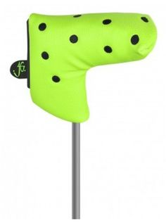 Just for Golf Knit Headcovers-Lime Green and black Dots Blade putter cover