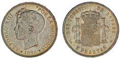 5 SILVER PESETAS/5 PESETAS PLATA. DURO. ALFONSO XIII. 1898*. UNC/SC. ATRACTIVA.