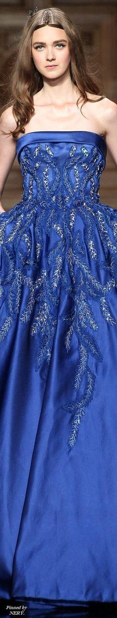 Tony Ward Fall Winter 2016 Couture Collection - Share The Looks Tony Ward, Blue Fashion, High Fashion, Punk Fashion, Lolita Fashion, Womens Fashion, Pretty Dresses, Blue Dresses, Long Dresses
