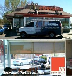 Solar roller shade are perfect for restaurants so that for Motorized blinds not working