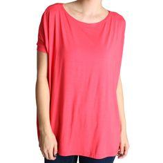 Hot Pink Piko Short Sleeve Top