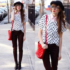 Polka dots today and every day! ♥ (by Steffy Kuncman) http://lookbook.nu/look/3264205