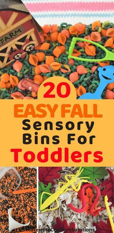 20 Easy Fall Sensory Bin Ideas for Toddlers