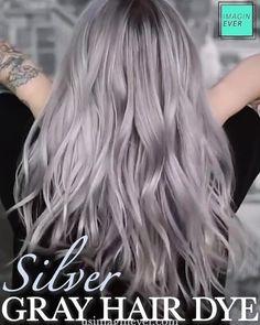 Silver Grey Hair Dye, Silver Blonde, Hair Dye Shampoo, Auburn, Permanent Hair Dye, Hair Color Techniques, Moisturize Hair, Silky Hair, Cool Hair Color