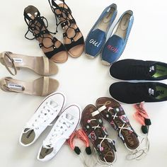Summer shoe lineup perfection