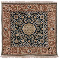 """A """"Small Barr"""" Hammersmith (carpet) designed by William Morris (183401896, Britain) for Morris & Co. Hand-knotted wool pile. Manufactured at Merton Abbey Workshops, London, 1890. - Art Gallery of South Australia, Adelaide."""