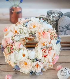 Floral Wreath, Decorations, Wreaths, Diy, Inspiration, Home Decor, Biblical Inspiration, Floral Crown, Decoration Home
