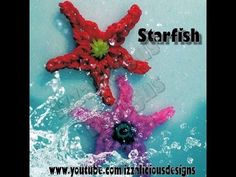 Rainbow Loom STARFISH updated. Designed and loomed by Kate Schultz of Izzalicious Designs. Click photo for YouTube tutorial. 06/01/14.