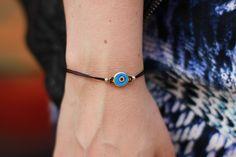 simple evil eye bracelet :)