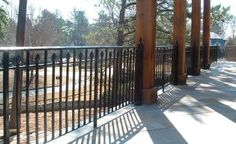 iron porch railing | Wrought iron fences and wrought iron rails can beautifully enhance ...