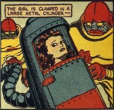 vintage comic woman