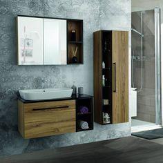 Porcelain Sink, White Porcelain, Shades Of Beige, Web Design Trends, Bathroom Furniture, Wood Paneling, Double Vanity, Storage Spaces, Design Inspiration