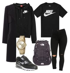 """Untitled #189"" by kingrabia on Polyvore featuring NIKE, The North Face and Tommy Hilfiger"