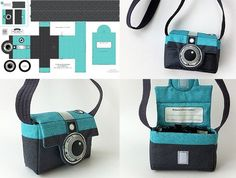 a Retrotastic Camera-Shaped Bag DIY vintage camera bag (would have to be for like. one camera and lens, but still adorable!DIY vintage camera bag (would have to be for like. one camera and lens, but still adorable! Felt Crafts, Fabric Crafts, Sewing Crafts, Sewing Projects, Diy Crafts, Sewing Hacks, Sewing Tutorials, Sewing Patterns, Bag Tutorials