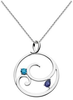 Kit Heath Norah Shine London Blue Topaz and Iolite Necklace 18""