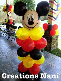 balloon decoration mickey  / decoracion globo mickey Fiesta Mickey Mouse, Mickey Mouse Bday, Mickey Mouse Clubhouse Birthday Party, Mickey Party, Miki Mouse, Ideas Para Fiestas, Balloon Decorations, First Birthdays, Party Themes