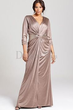 Outstanding Column Evening Dress with T-shirt Sleeves