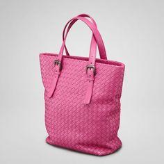 TOTE Bogetta Veneta-Intrecciato Nappa tote in Ametiste (pink) or black, brown-large