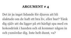Nanna Johansson. Argument för att vara köttätare.
