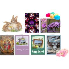 """""""Easter Greeting Cards"""" by stine1online on #Polyvore: Express your love on #Easter with these #greeting cards from #zazzle. Happy Easter! #greetingcard #card #note #mail #Home #decor #Spring"""