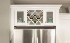 cabinet over refrigerator ideas | wine-cabinet-above-refrigerator-with-seedy-glass-doors