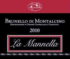 La Mannella - Brunello di Montalcino #naming #design #vino #etichette #winelovers
