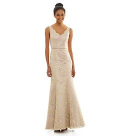 JS Collections Floral-Embroidered Gown | Dillard's Mobile