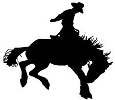 Bucking Horse Silhouette from silhouette-art.com.