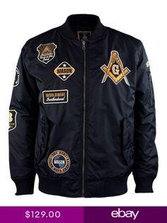 ee861385 Mason Mens Bomber Jacket Black
