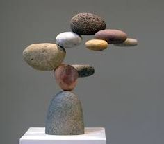 Woods Davy-- stone and (hidden) steel sculptures I like this sculpture because it looks like the rocks are floating Rock Sculpture, Steel Sculpture, Abstract Sculpture, Stone Sculptures, Stone Crafts, Rock Crafts, Verre Design, Deco Nature, Creation Art
