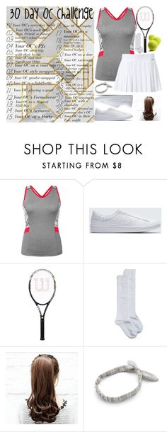 """Emma Hills Tennis Outfit"" by sarah-rose-312205 on Polyvore featuring Slazenger, NIKE and Nordstrom"