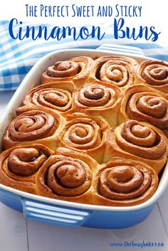 Homemade cinnamon buns are deliciously sweet and sticky. Make perfect cinnamon rolls from scratch with this Homemade Cinnamon Buns recipe and our Top 5 Pro Tips!