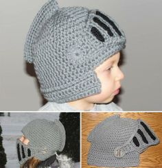 crochet knights helmet