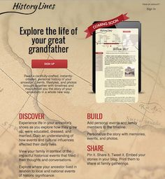 HistoryLines Announces Beta Site-Understanding ancestors by discovering historical events and environment in which they lived.