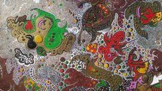"""Iron Galaxies"" I have used melt iron and various acids to create this painting. #artsoberon #painting #abstractart   Artist: Ramon Soberon @artsoberon  Style: Contemporary Baroque"