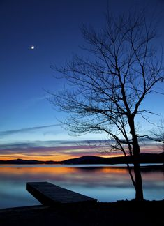 Seventh Lake Dusk - Inlet, NY
