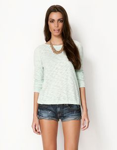 Bershka sweater with back bows