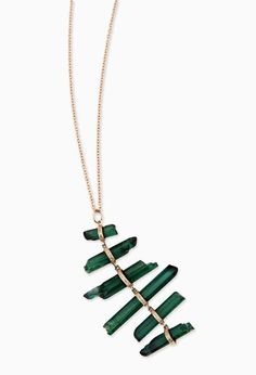 Jacquie Aiche Tourmaline and Rose Gold Necklace (via Gold Threads)