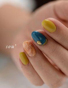シェルの埋め込みと の画像|nail salon sou-sou